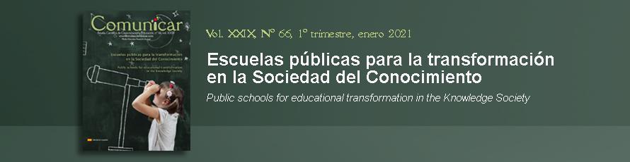 Comunicar: Nuevo nº66 'Escuelas públicas para la transformación en la Sociedad del Conocimiento'