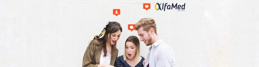 Crecimiento de Alfamed Joven en redes sociales